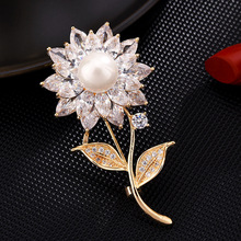 High-end Flower brooch pins New brooches for women Dress coat Accessories gifts for women enamel pin Fashion Jewelry hijab pins brooches for women hijab pins fashion jewelry cc brooch gifts for women high end wedding brooch dress accessories enamel pins