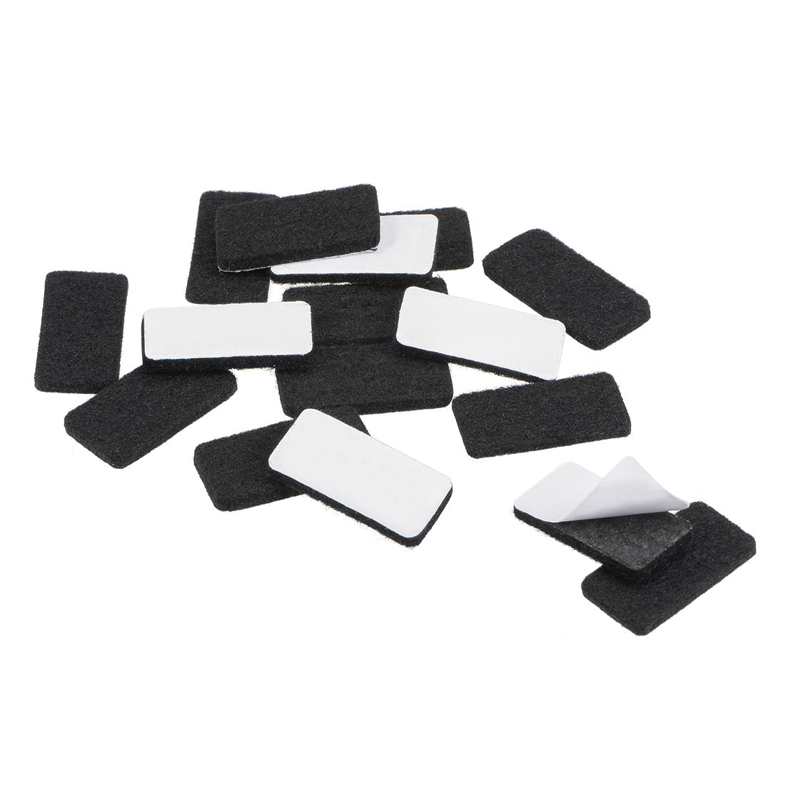 Uxcell Furniture Pads 30mm X 15mm Adhesive Felt Pads 3mm Thick Black 48Pcs