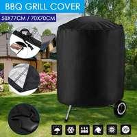2 Maten Zwart Waterdichte Bbq Cover Bbq Accessoires Grill Cover Anti Dust Rain Dust-Proof Elektrische Barbecue Grill Protector covers
