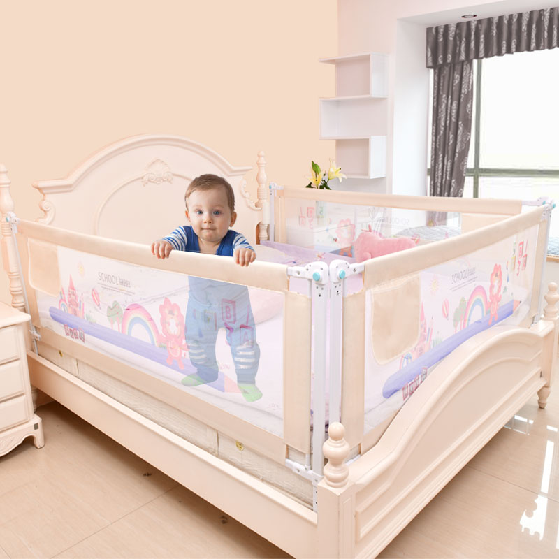 Baby Bed Fence Home Kids Playpen Safety Gate Products Child Care Barrier For Beds Crib Rails Security Fencing Children Guardrail