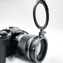 ND מסנן מיתוג סוגר שחרור מהיר הר למצלמה Nikon Sony Fuji DSLR מצלמה עדשת מתאם Flip 58/67/72/77/82mm