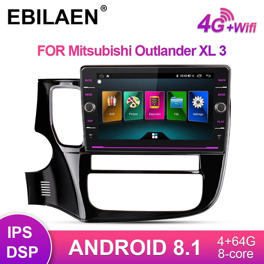 EBILAEN Car Radio Multimedia Player For Mitsubishi Outlander 3 2Din Android 8.1 Autoradio GPS Navigation Video Wifi Audio Player