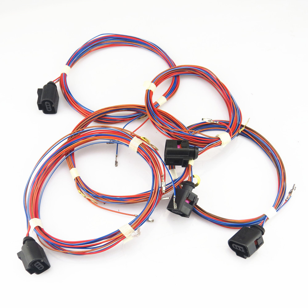FHAWKEYEQ Rear Door Alarm Safety Horn <font><b>Speaker</b></font> Cable Plug Wiring Harness For VW Jetta MK5 <font><b>Passat</b></font> <font><b>B6</b></font> B7 Golf MK6 Tiguan A1 Q3 Q5 image