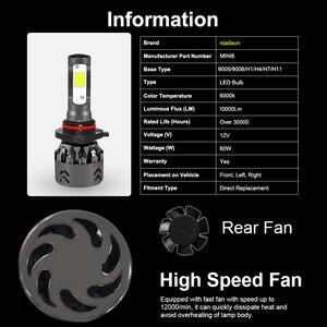 Image 2 - Roadsun luces LED para faro delantero de coche, Chips COB, tamaño Mini, H11, H1, 9005, HB3, 9006, HB4, 10000LM, 60W, 6000K, Estilismo, 12V