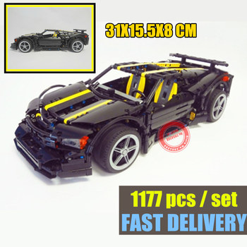 New 1177Pcs MOC technic Series Balisong Supercar fit  technic racing car Set Building Blocks Bricks Toys Model Gift