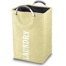 Collapsible Laundry Basket Bag With Alloy Handle Waterproof Oxford Cloth Large Capacity Home Decoration Accessories