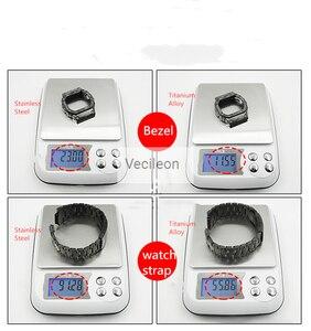Image 4 - GMW B5000 Zwart Camo Sliver Titanium Legering Horlogebanden En Bezel Metalen Band Stalen Armband Cover Met Gereedschap