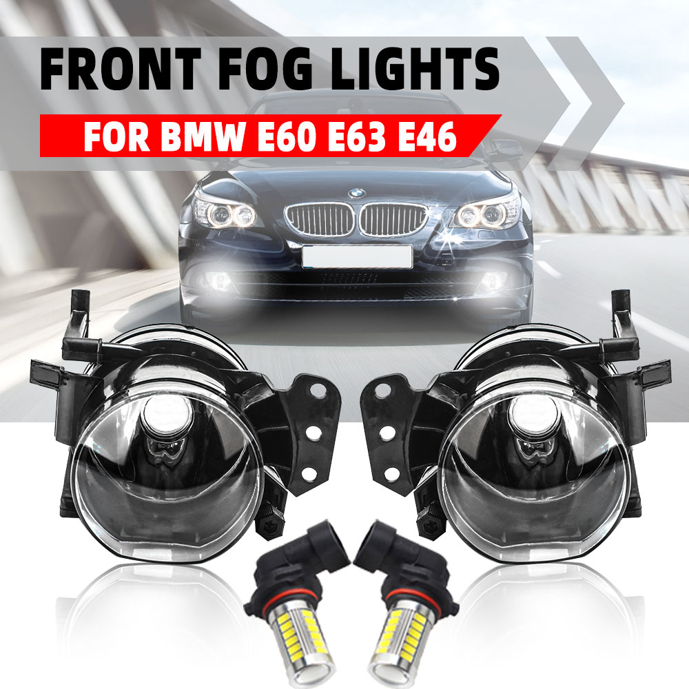 Fog Lights For BMW E60 E90 E63 E46 323i 325i 525i Headlight Headlights Fog Light LED Fog Lamps Halogen Foglights