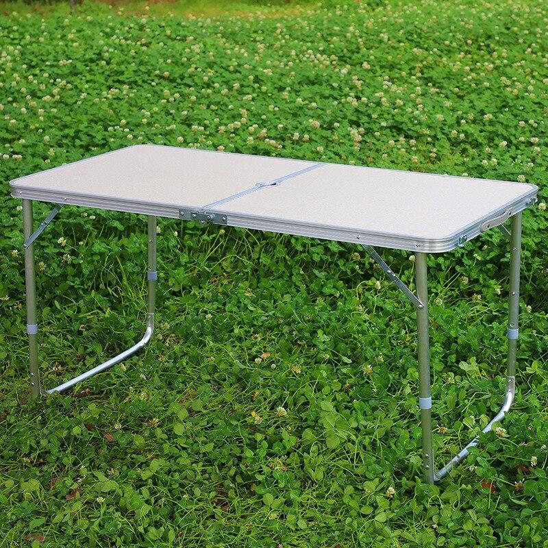 Wholesale Outdoor Table Non-Porous Aluminum Folding Table Street Vendor Propaganda Barbecue Household Portable Casual Shou Ti Zh