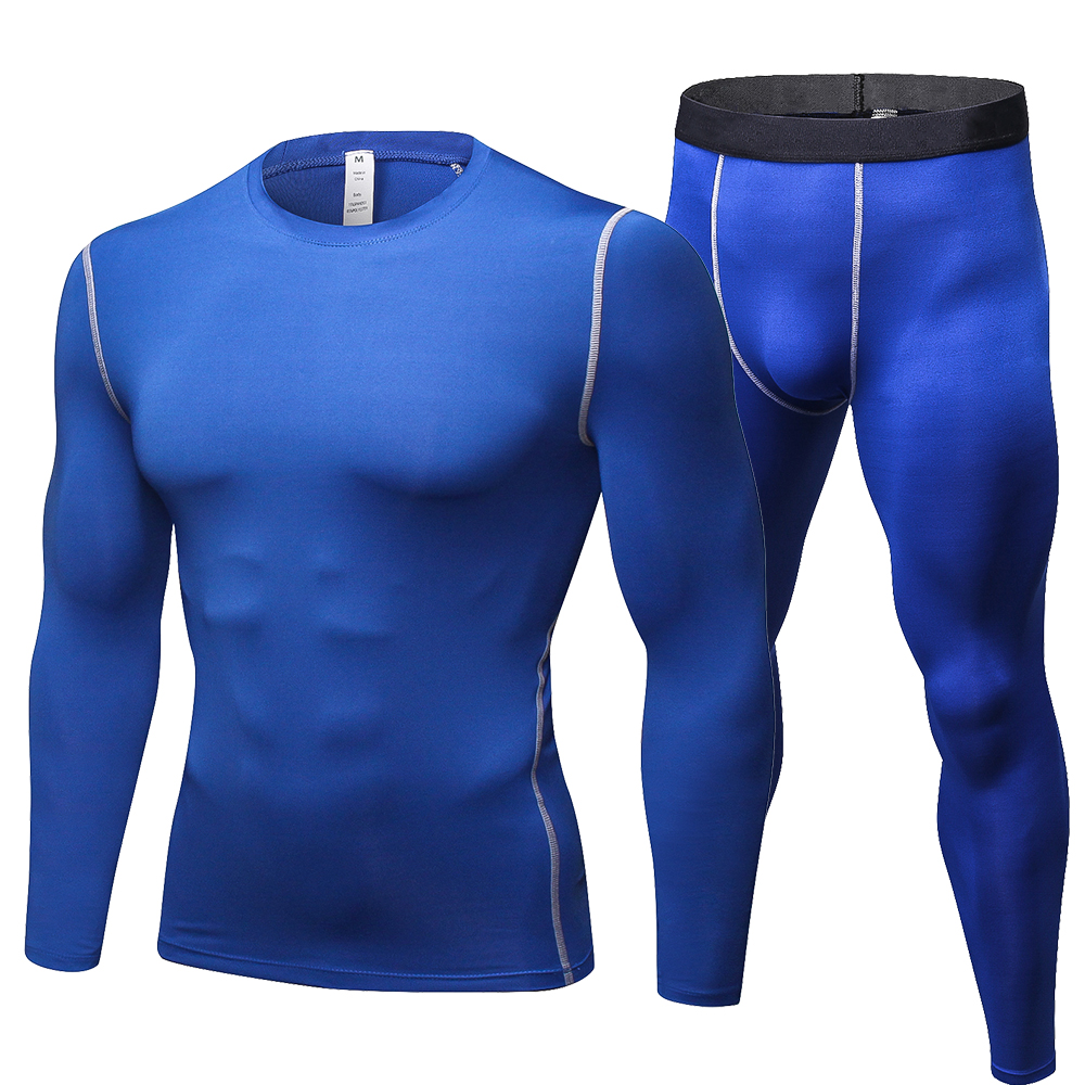 Motorcycle Men's Underwears sets Breathable Sport Quick drying Skiing Base Layers Tight Long Tops & Pants Sportswear Underwear