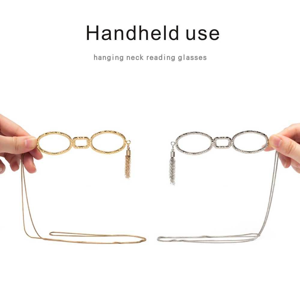 แขวนคอแว่นตาอ่านหนังสือสายตายาวผู้หญิง ULTRA LIGHT เลนส์แว่นตา presbyopia