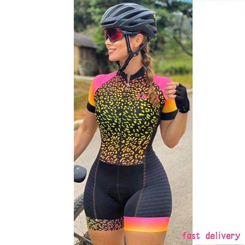 2021 xama pro feminino triathlon terno roupas ciclismo conjuntos de skinsuit macacão kits macaquinho ciclismo feminino gel maillot mujer roupas femininas com frete gratis  ciclismo feminino gel macacão triathlon 8