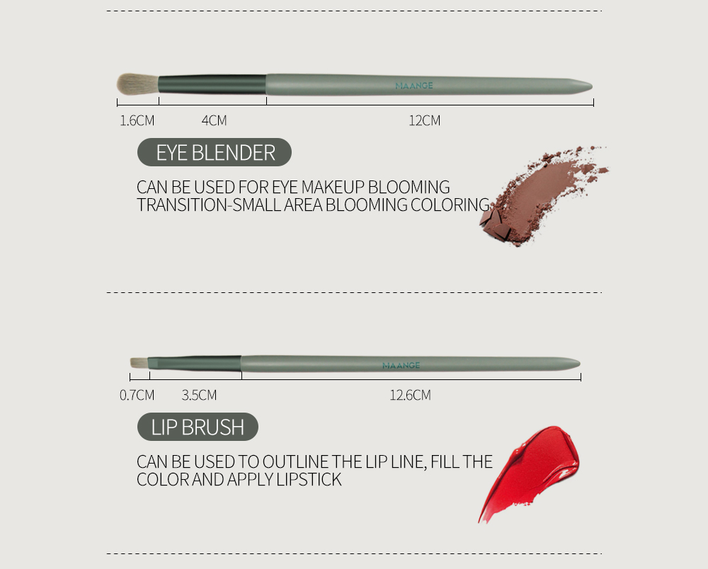 sombra lábio corretivo mistura sobrancelha escovas kits