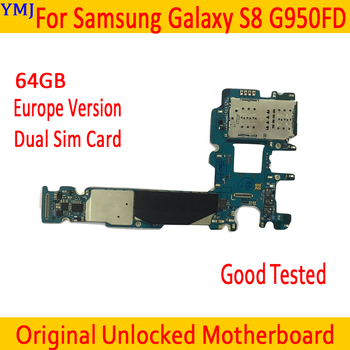 Factory Unlock MainBoard For Samsung Galaxy S8 G950FD Motherboard Dual Sim Card For Galaxy S8 G950FD Logic board With Chips