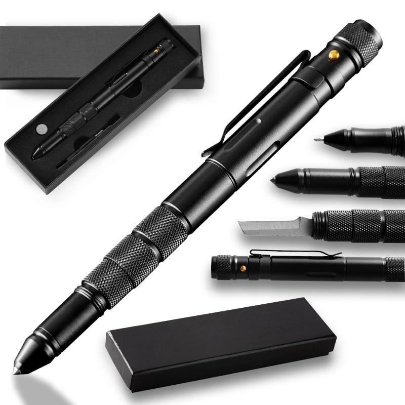 Self-Defense Weapon Tactical Pen Lady Anti-Wolf Car Broken Window Escape Tool Defense Pen With Flashlight Waterproof Warehouse