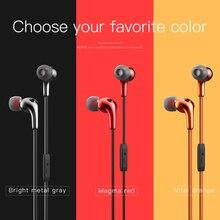 ספורט אוזניות סטריאו אוזניות מתכתי ב אוזן אוזניות בידוד רעש עם 3.5mm שקע Wired אוזניות עבור iphone huawei xiaomi