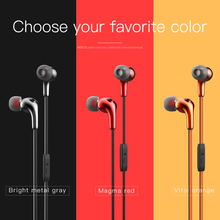 Sport Earpieces Stereo Earbuds Metallic In ear Earphone Noise Isolating with 3.5mm jack Wired Headset For iphone huawei xiaomi