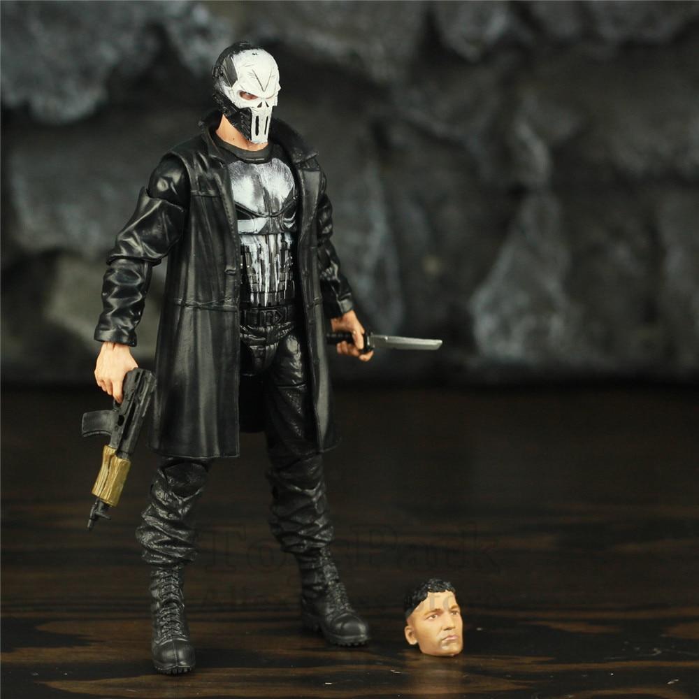 "Image 5 - Custom Marvel Legends Crossbones Mix Punisher Frank Castle TV 6"" Scale Action Figure Man Thing BAF Wave Body 1/12 Head Toys DollAction & Toy Figures   -"