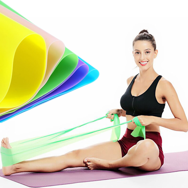 150-200cm TPE Yoga Resistance Bands Rubber Elastic Band Loops Fitness Exercise Pull Rope