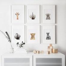 Жираф зебра постеры с животными и художественная печать на холсте
