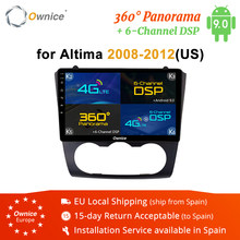 "Ownice Android 9.0 4G Lte 360 Panorama Dsp Spdif Speler Gps Navi Radio 9 ""K3 K5 K6 Voor nissan Teana Altima Manual A/C 2008-2012(China)"