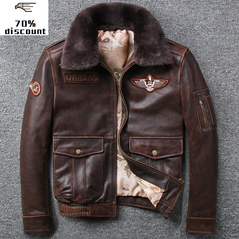 2020 New Men's Leather Jacket Men Genuine Male Leather Jacket Motorcycle Windbreaker Leather Aviator Jacket Sheepskin Coat