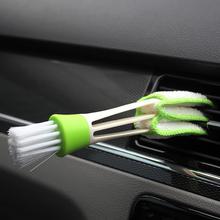 Car Air outlet Brush Clean Tools Car Cleaning Automotive Keyboard Supplies Versatile Cleaning Brush Vent Brush Cleaning Brush multifuctional double headed car air outlet cleaning brush
