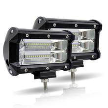 LED Car Work Light Bar 5 Inch 72W Dual Row 6000K Offroad 4x4 Driving Light 12V Fog Light for Tractor Truck Boat UTV SUV Lamps