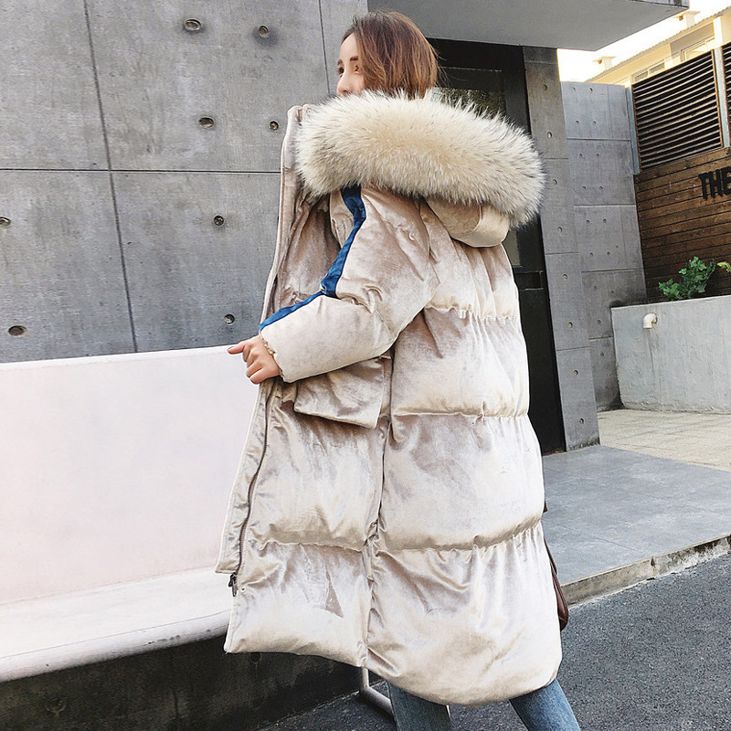 Thick Warm Hooded Long Down Parkas Women Down Jacket Winter Coat Cotton Padded Jacket Woman Winter