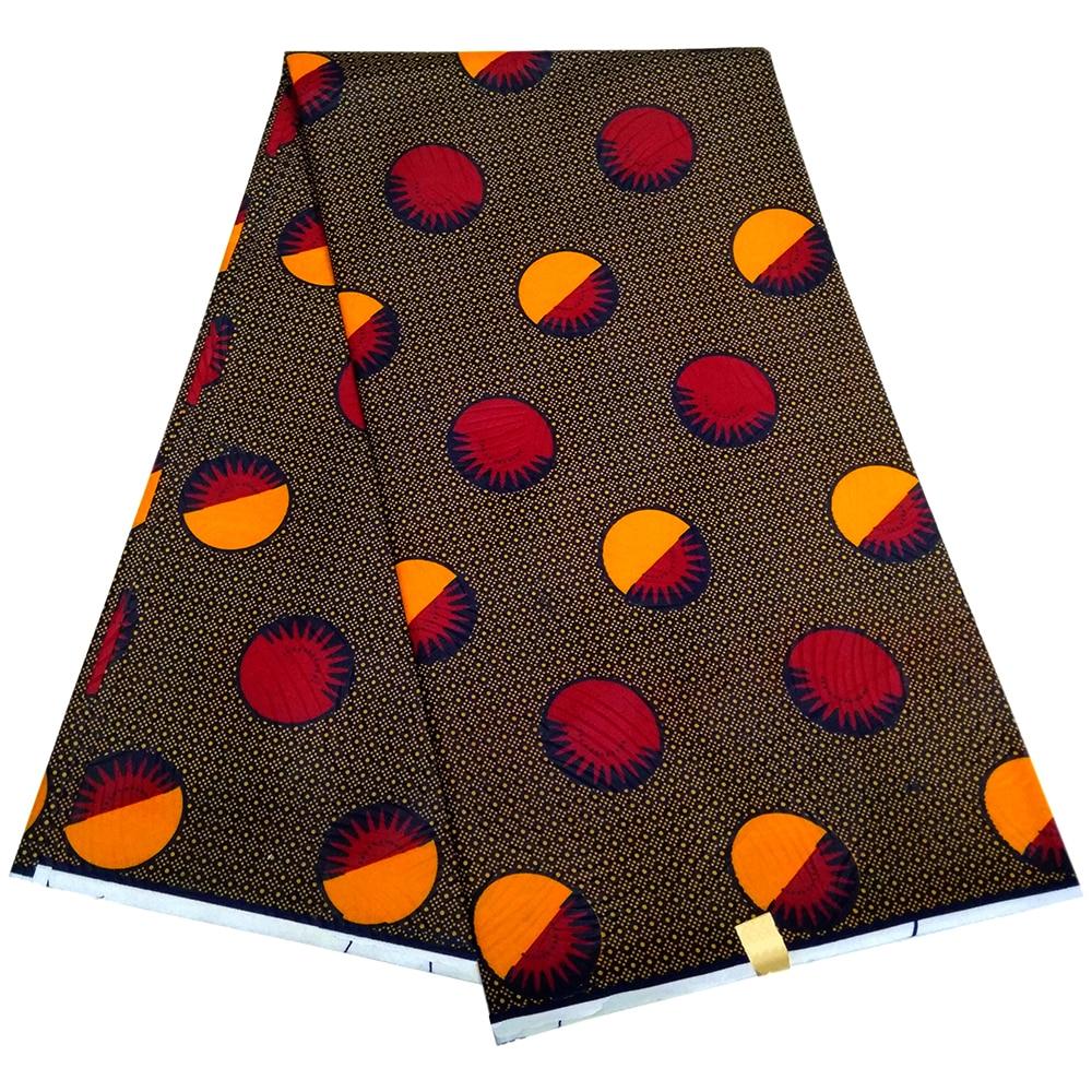 African Real Wax Print Fabric Nigeria Ankara 6yard African Wax Fabric