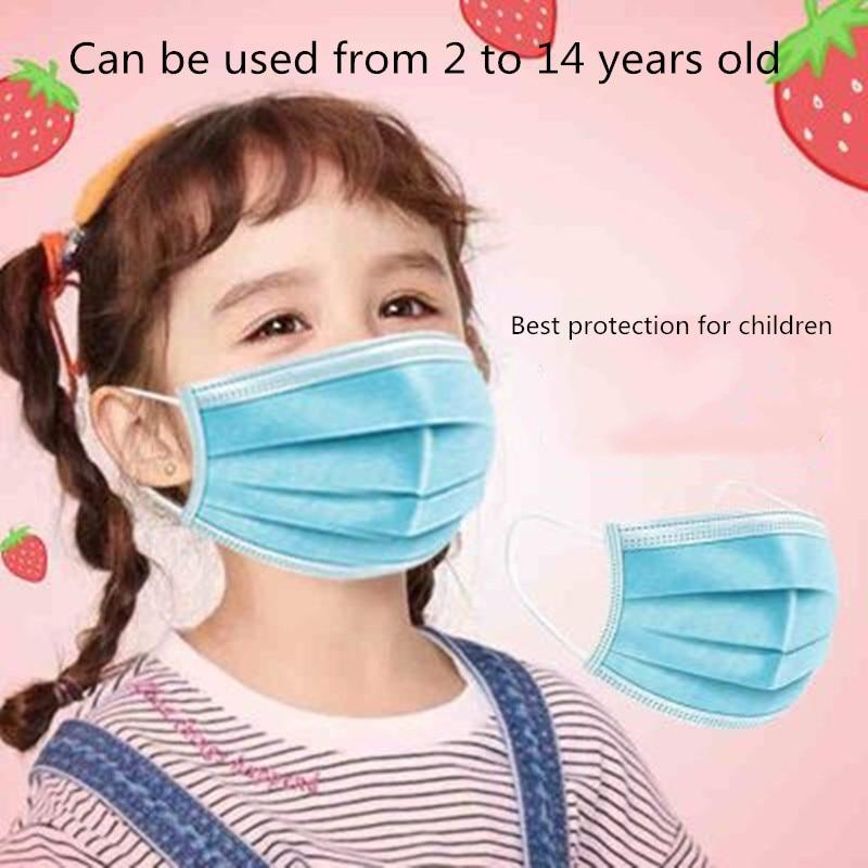 100pcs   Children's Masks Disposable Masks Nasal Masks Anti-virus Breathable Anti-haze Breathable Masks