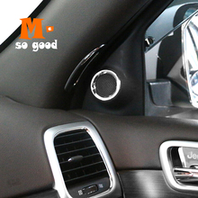 2014 2015 2016 2017 For Jeep Grand Cherokee ABS Chrome Car before small horn Cover Trims Car Styling Accessories Sticker 2 piece 2014 2015 2016 2017 for jeep grand cherokee car storage box handle door bowl cover trims car abs chrome styling accessories
