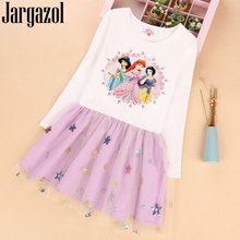 Jargazol Autumn Long Sleeve Princess Dress Sequins Embroidery Cute Fall Little Girl Dresses Teenagers Costume Vestidos Party(China)