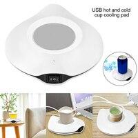 Mini Coffee Milk Mug Warmer Coaster USB Electric Cup Heating Pad Coaster for Coffee Tea DJA99