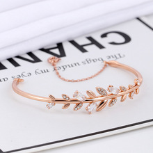 High quality SWA fresh leaves elegant exquisite jewelry beautiful charming birthday gift female Bracelet