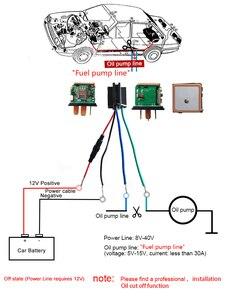 Image 5 - 자동차 추적 릴레이 gps 트래커 장치 gsm 로케이터 원격 제어 도난 방지 모니터링 오일 전원 시스템 app 차단