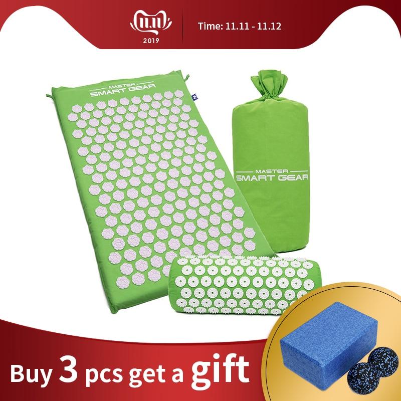 GR traiter Lotus tapis d'acupression tapis de Massage des pieds coussin d'acupression Fitness tapis de Yoga soulagement de la douleur du corps