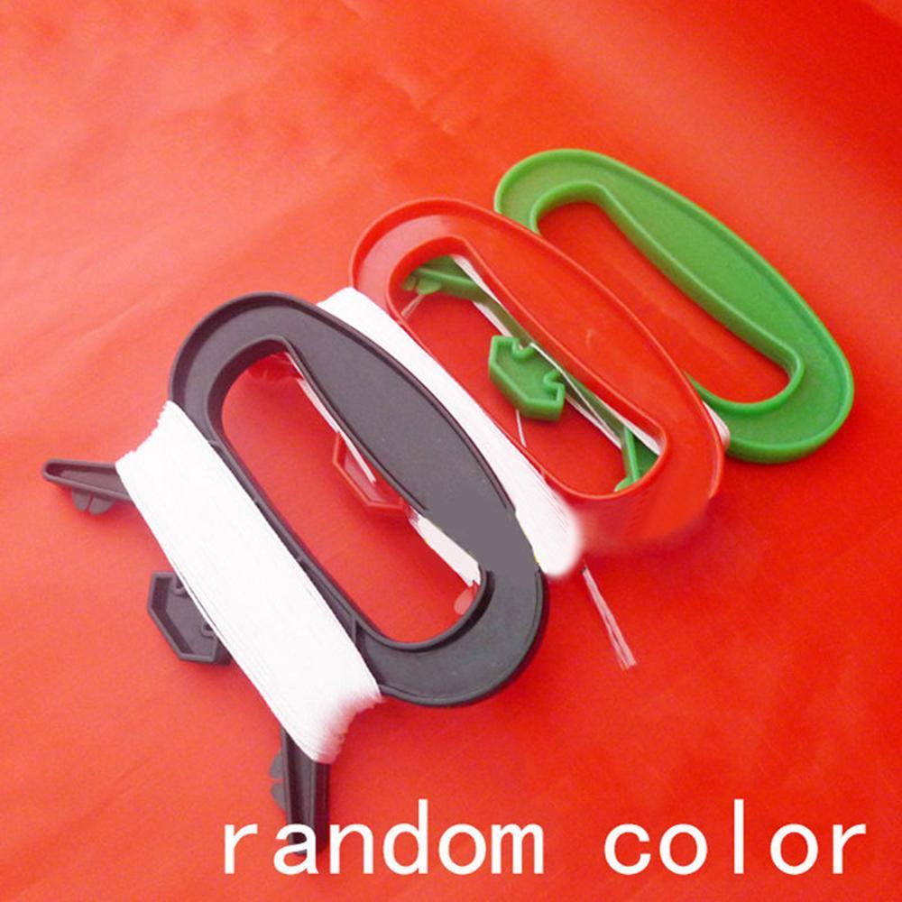 30/50/100m Polyester D Shape Kite Line String Winder Handle Outdoor Board Children Kite Gift For Children Kite Accessories