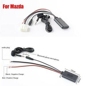 Горячий автомобиль на обоих концах для подключения внешних устройств к автомагнитоле адаптер Bluetooth микрофон для Mazda 3, 5, 6, MX-5 RX-8 стерео радио