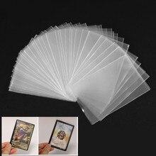 100 sztuk plastikowa przezroczysta karta rękawy magiczna tablica gra Tarots trzy królestwa karty do pokera Protector 8.2*8.2/5.8*8.8cm