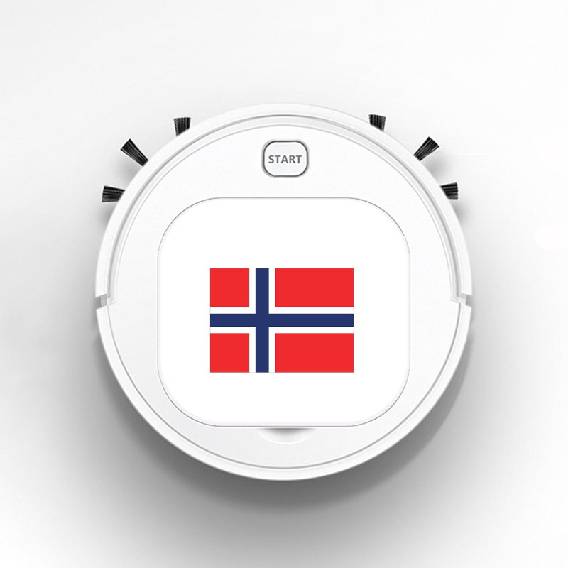 Auto USB Sweeping 1800Pa Multifunction Smart Robot Vacuum Cleaner Dry Wet Floor Cleaner Creative Funny NORWAY Flag