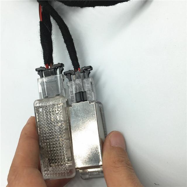 car interior Footwell Light foot Lamp Cable Wire harness For Passat B6 Golf 6 MK6 MK7 Jetta MK5 MK6 Tiguan 7L0 947 415 5ND947415