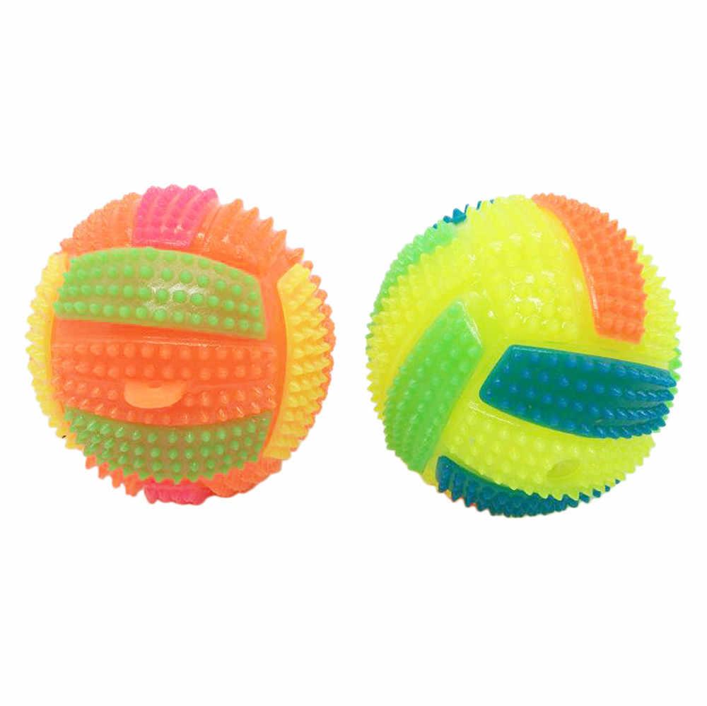 Niños juguetes educativos nuevos niños LED de voleibol luz intermitente hacia arriba Bola de erizo de juguete para niños regalo Y726