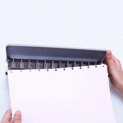 Perforadora de seta DIY hoja suelta A4 A5 B5 cortador de papel ajustable 12 agujeros perforadora escuela Oficina encuadernación papelería