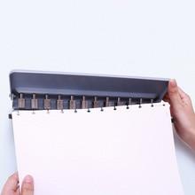 T Pilz Loch Punch DIY Lose Blatt A4 A5 B5 Papier Cutter Einstellbare 12 Löcher Puncher Schule Büro Bindung schreibwaren