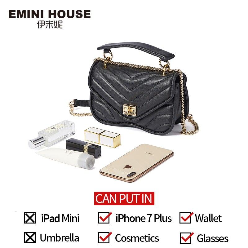 EMINI maison mode chaîne sac à bandoulière sacs pour femmes en cuir véritable sac à bandoulière luxe sacs à main femmes sacs Designer - 4