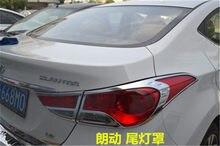 Couvercle chromé ABS pour phare avant et arrière de voiture, pour Hyundai Elantra AVANTE I35 2012 2013 2014 2015