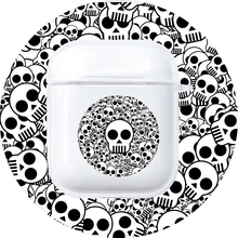 Skull Case for Apple AirPods 1 2 Soft Silicone Transparent Earphone Case Flower Skull Protective Cover for Apple Airpods Cover