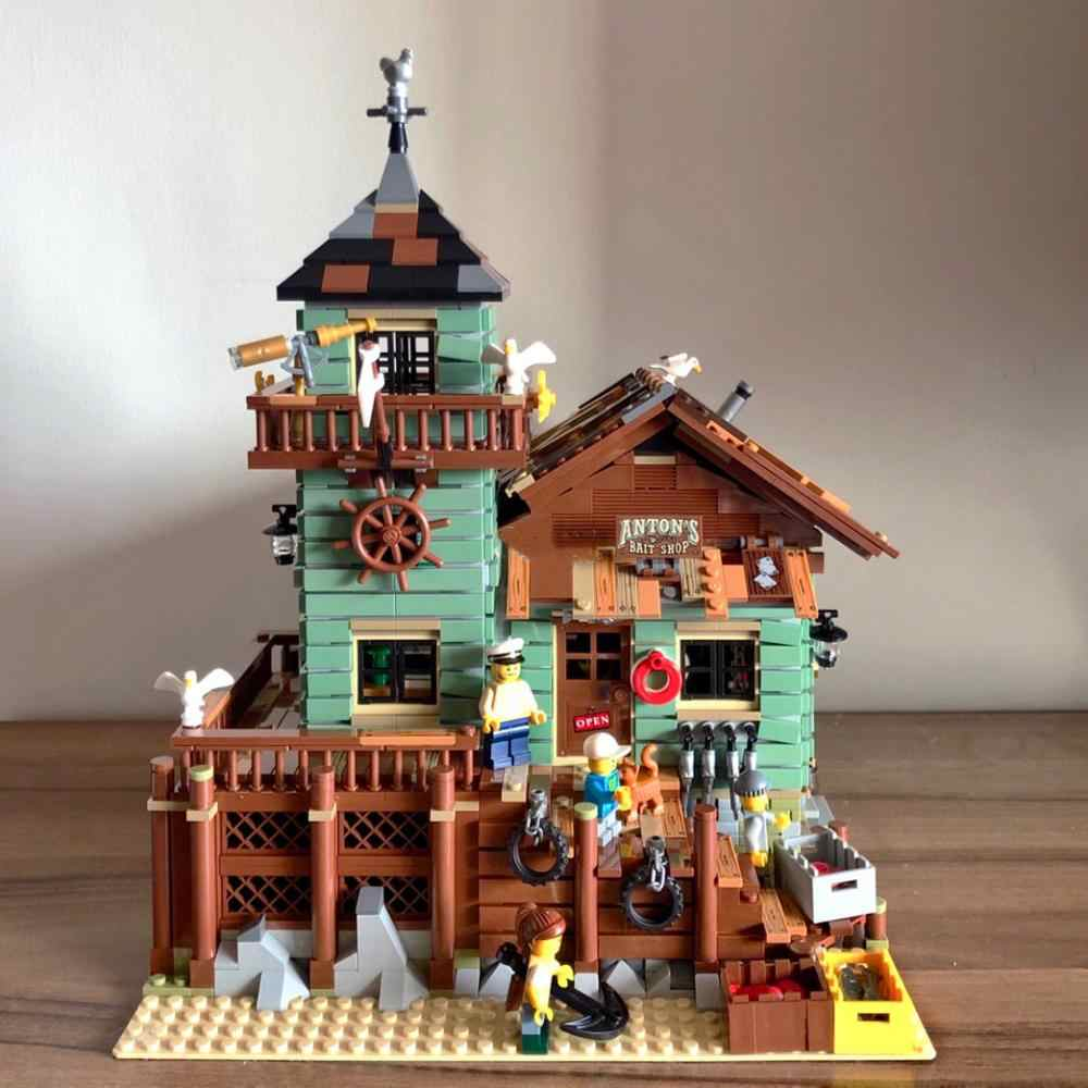 Old Fishing Store city series Compatible Iegoset 21310 16050 Educational Building Blocks Toys Christmas Gifts