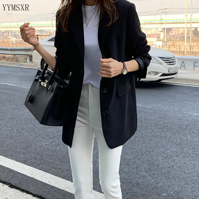 Women's suits for spring and autumn 2020 New Korean Slim Women's Black Single-Breasted Blazer Casual small suit